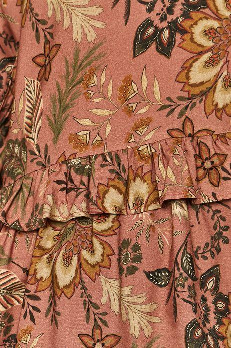Bluzka damska z falbankami różowa