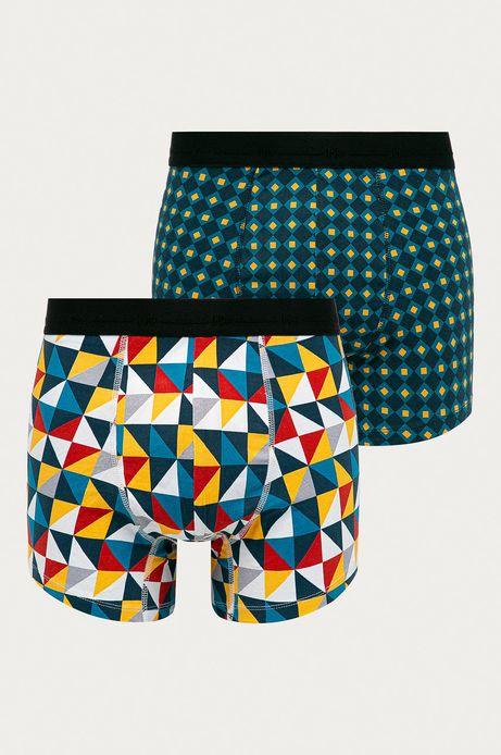 Bokserki męskie w geometryczne wzory (2-pack)