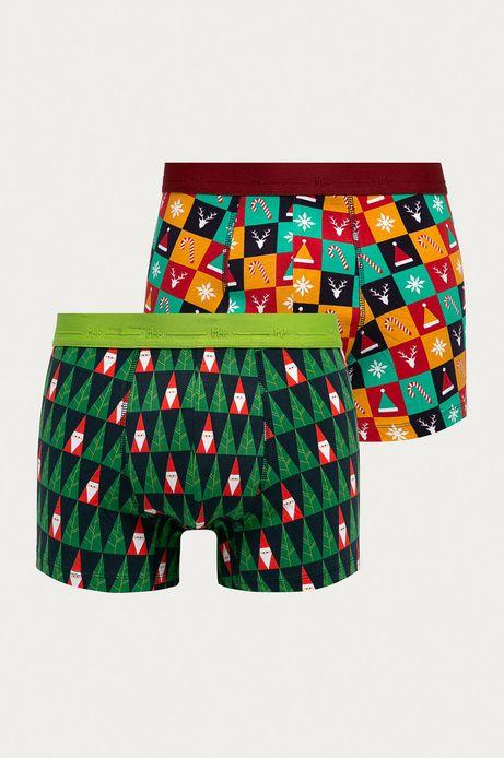 Bokserki męskie z motywem świątecznym  (2-pack)