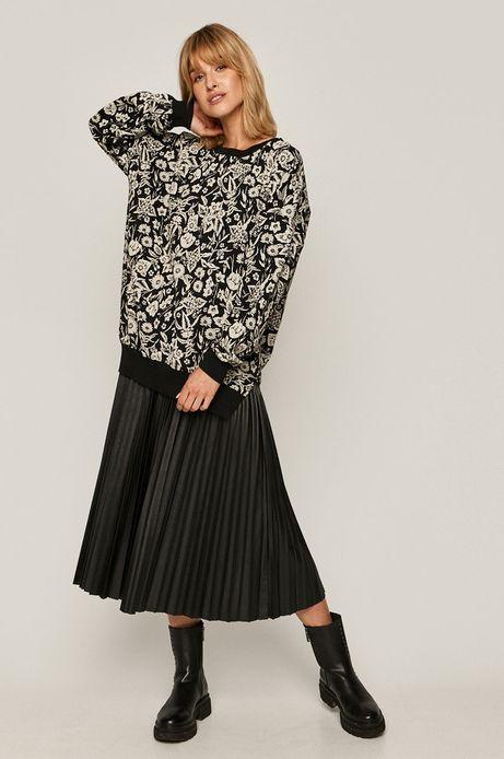 Bluza damska wzorzysta czarna