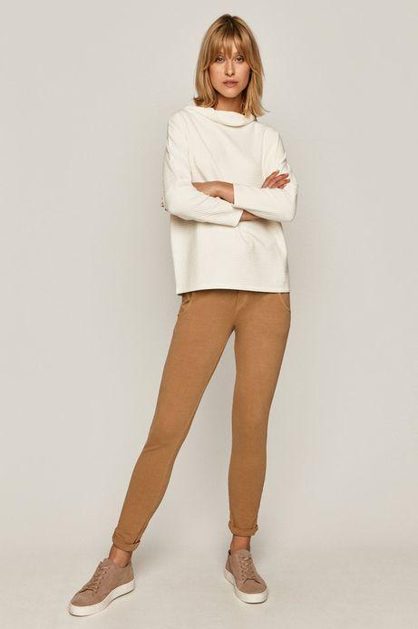 Bluza damska z półgolfem kremowa