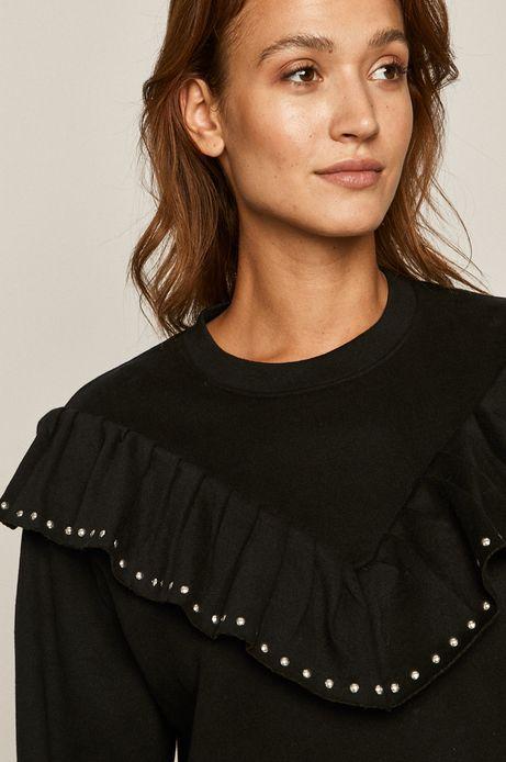Bluza damska z falbanką czarna