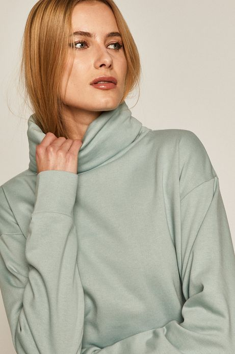 Bluza damska z golfem zielona