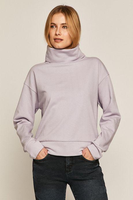 Bluza damska z golfem fioletowa