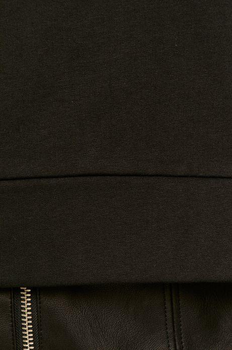 Bluza damska z golfem czarna