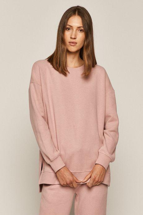 Bluza damska z gładkiej dzianiny różowa