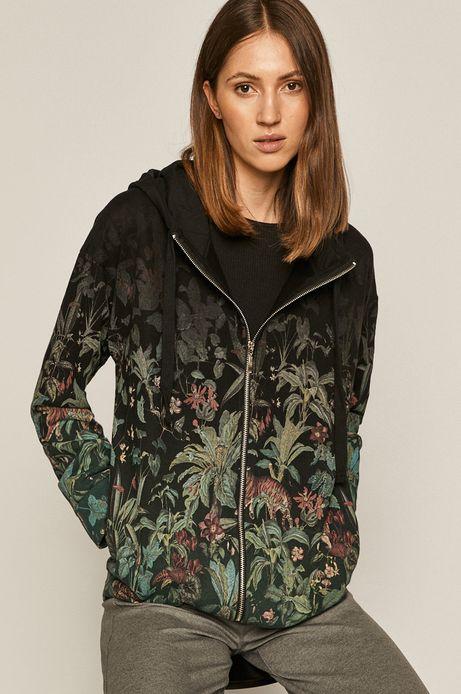 Bluza damska z motywem roślinnym