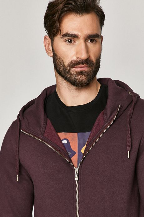 Bluza męska z kapturem fioletowa