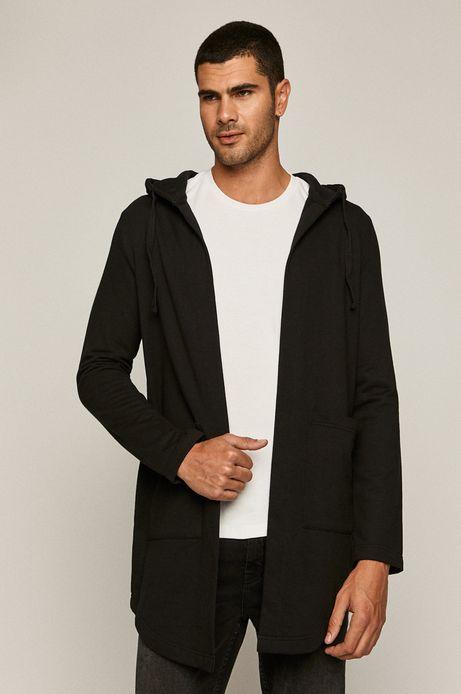 Bluza męska z kapturem z bawełny organicznej czarna