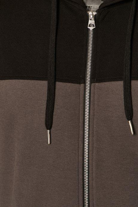 Bluza męska z kapturem szara