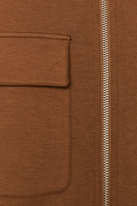 Bluza męska z kieszeniami brązowa