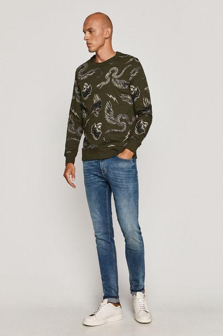 Bluza bawełniana męska Halloween zielona