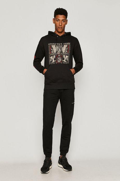 Bluza męska z nadrukiem czarna