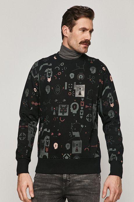 Bluza bawełniana męska Comfort Up czarna