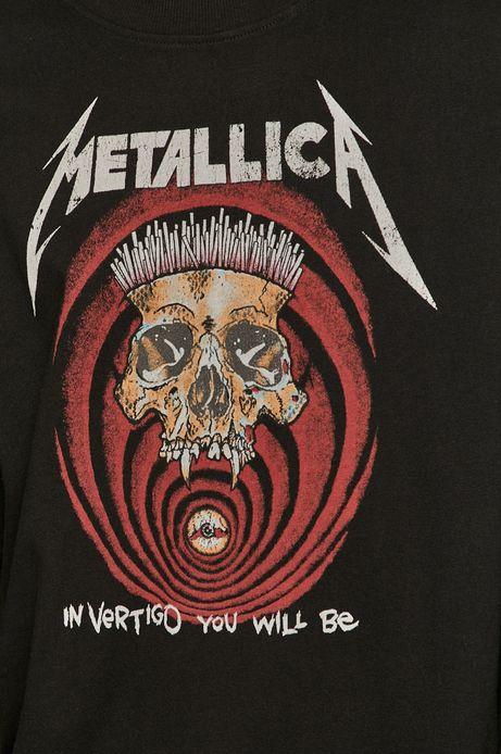 Bluza męska Metallica z nadrukiem czarna