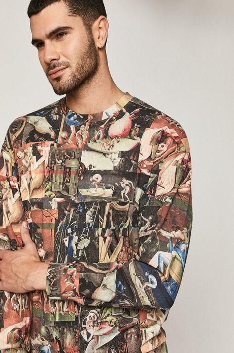 Bluza męska bawełniana z motywem malarskim