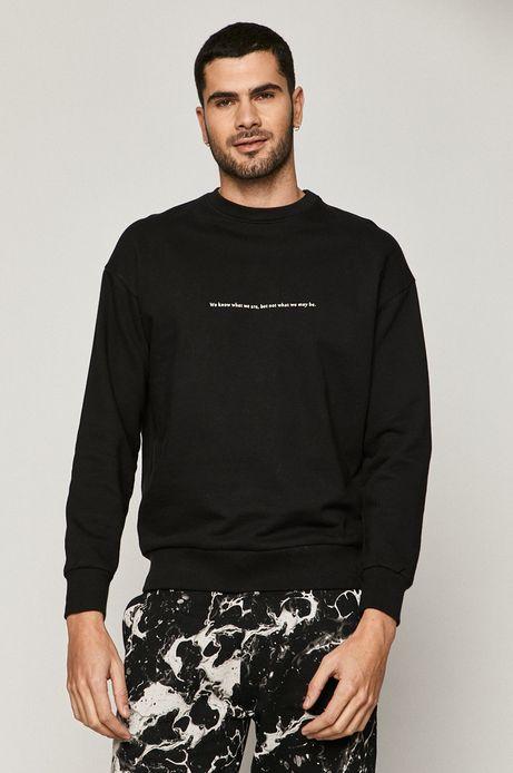 Bluza bawełniana męska z nadrukiem czarna
