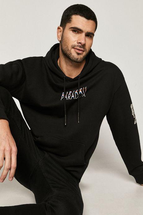Bluza męska bawełniana z nadrukiem czarna