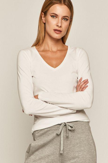 Longsleeve damski z bawełny organicznej biały