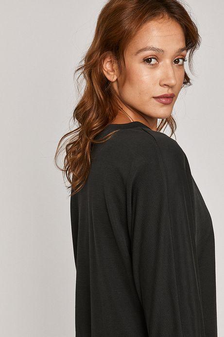 Bluzka damska z zakładanym dekoltem szara