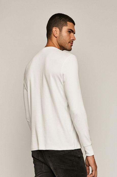 Longsleeve męski z bawełny organicznej biały