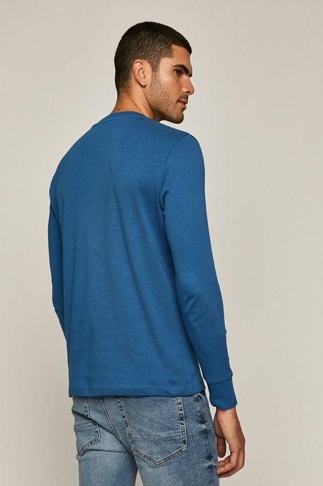Longsleeve męski z bawełny organicznej niebieski