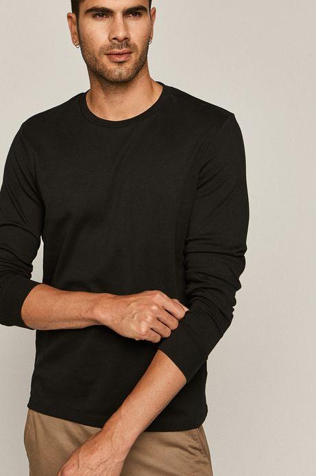 Longsleeve męski z bawełny organicznej czarny