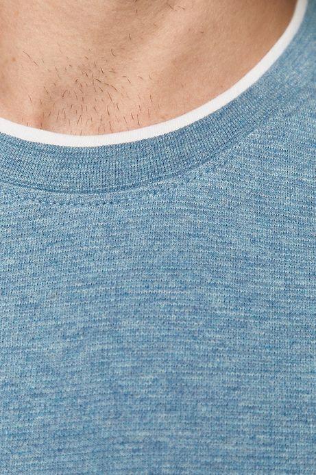 Longsleeve męski bawełniany niebieski