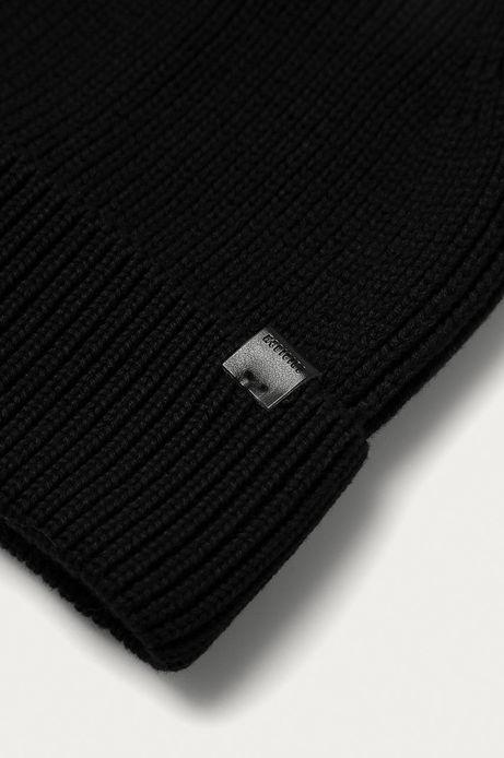 Czapka męska Basic z wywijaną krawędzią czarna