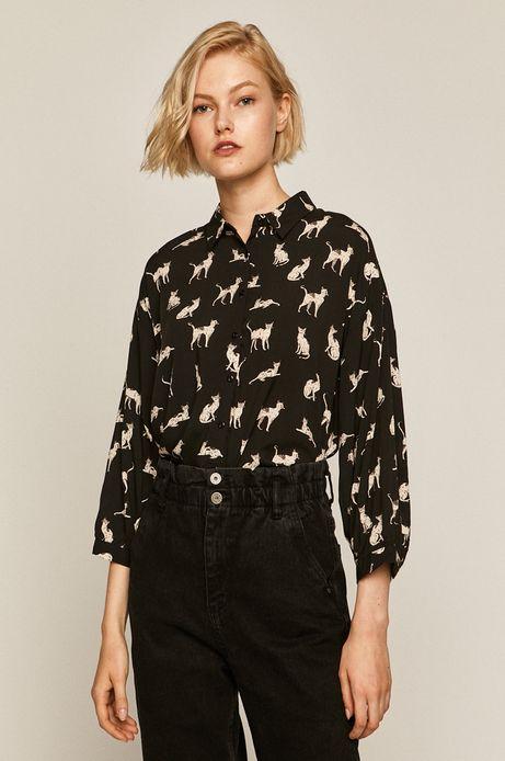 Koszula damska wzorzysta czarna