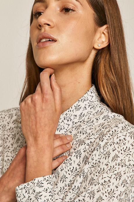 Koszula damska wzorzysta biała