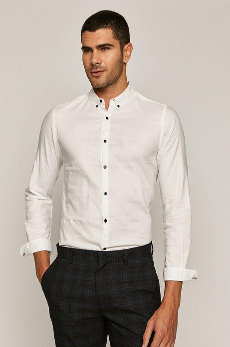 Koszula męska bawełniana slim biała