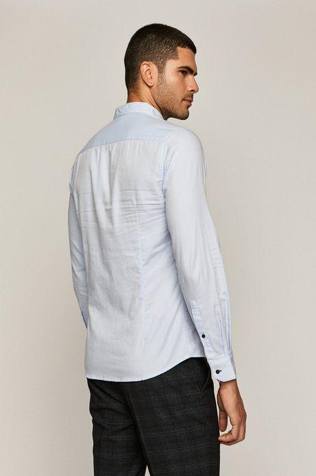 Koszula męska  bawełniana slim niebieska
