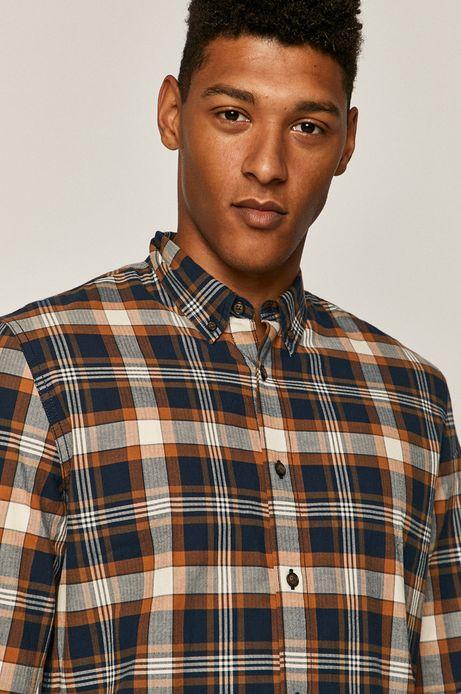 Koszula męska w kratkę beżowa