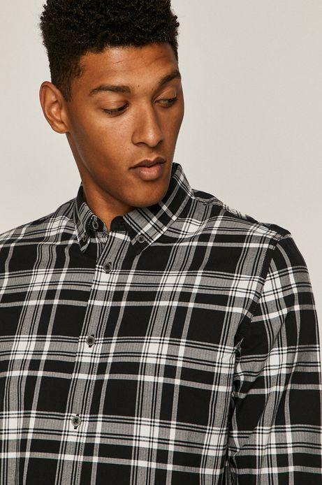 Koszula męska w kratkę czarna