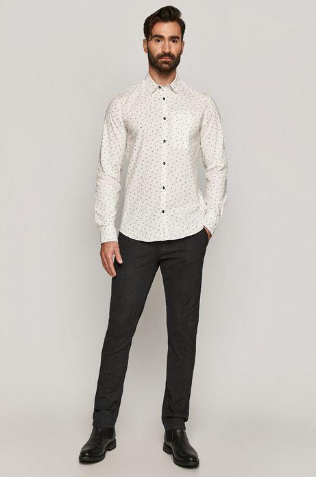 Koszula męska w drobny wzór biała
