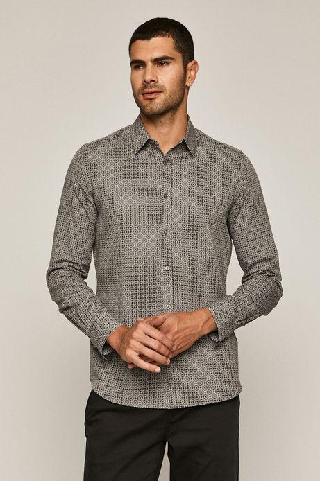 Koszula bawełniana męska wzorzysta