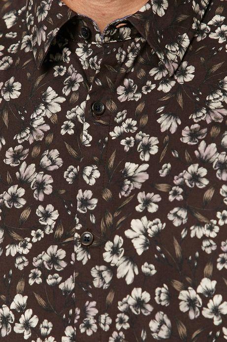 Koszula męska w kwiaty bordowa