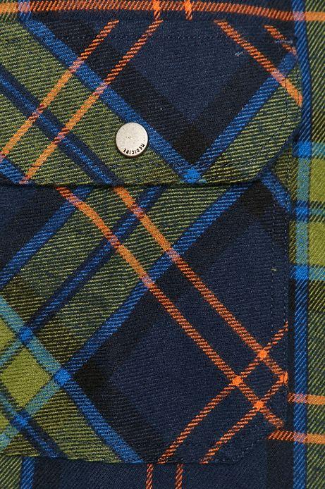 Koszula męska bawełniana w kratkę zielona