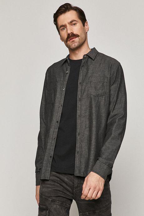 Koszula bawełniana męska regular szara