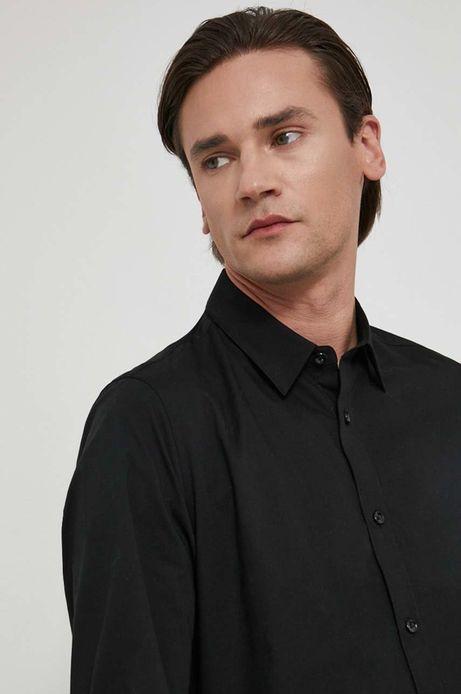 Koszula męska slim czarna