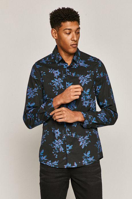 Koszula męska slim wzorzysta czarna