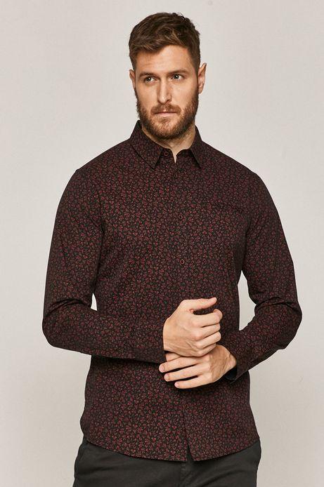 Bawełniana koszula męska w drobny wzór