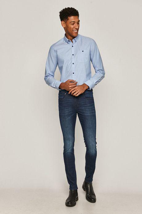 Koszula bawełniana męska niebieska
