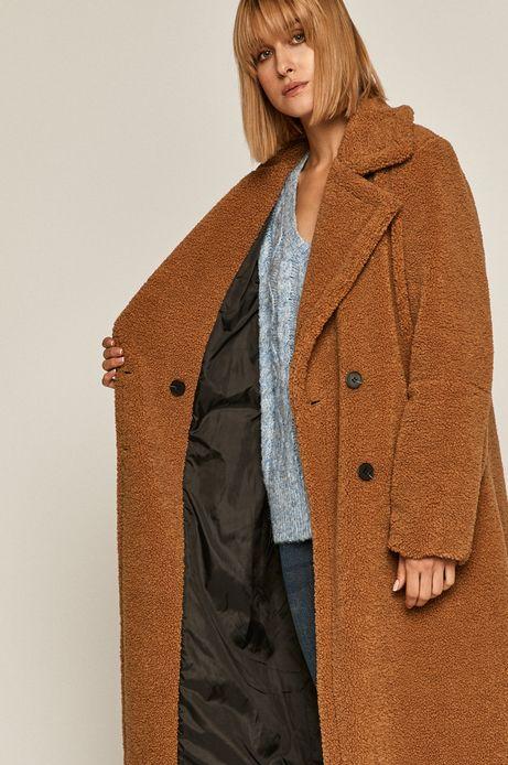 Płaszcz damski dwurzędowy beżowy