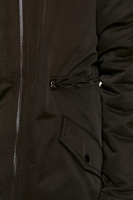 Płaszcz dwustronny damski czarny