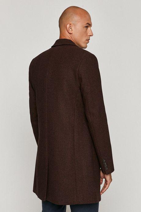 Płaszcz męski z domieszką wełny borodwy
