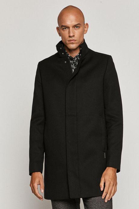 Płaszcz męski na podszewce czarny