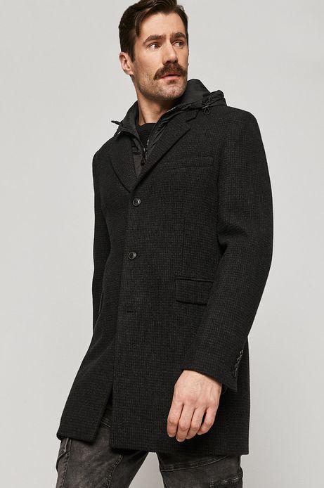 Płaszcz męski wełniany szary