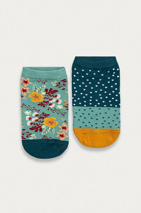 Skarpetki damskie w kwiatki (2-pack)